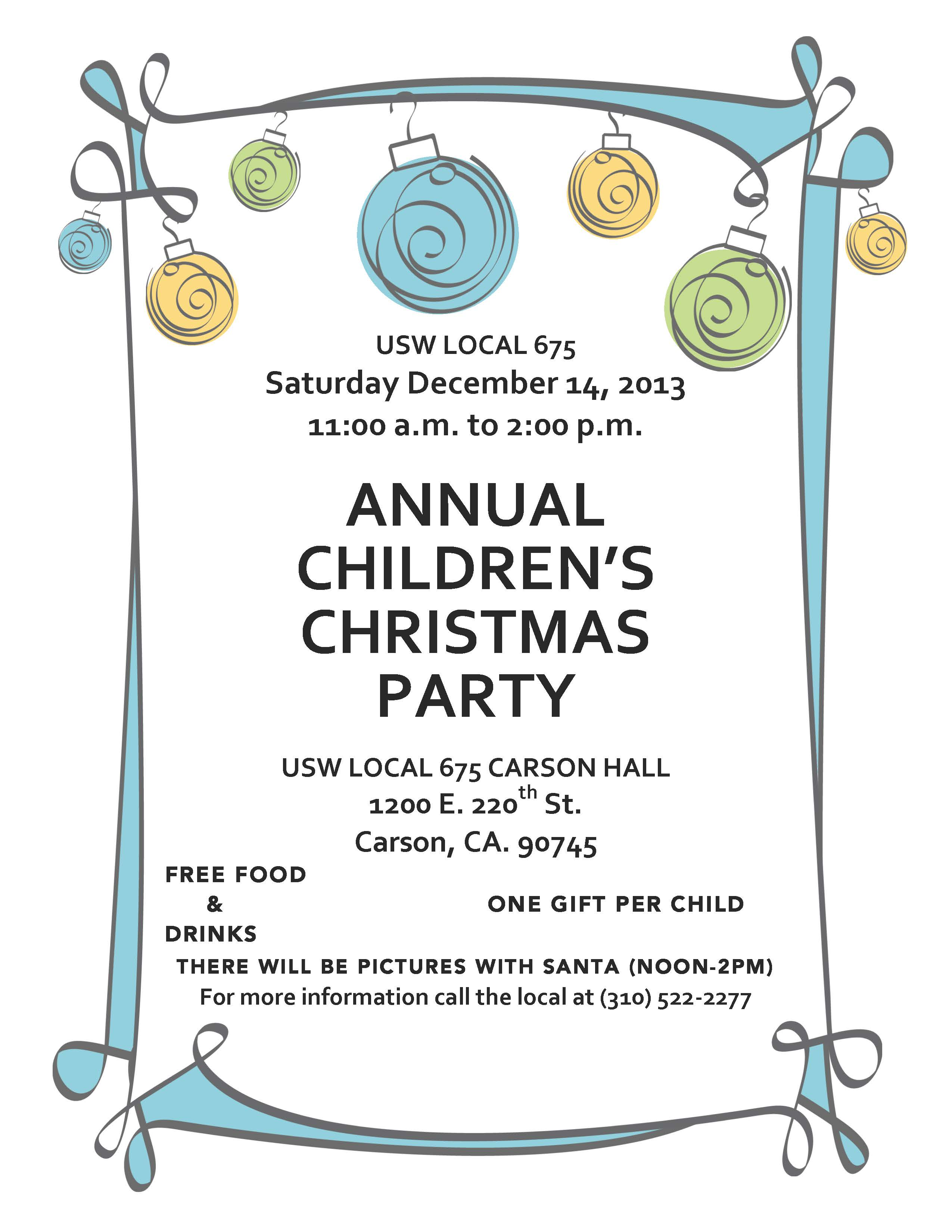 USW Local 675 Childrens Party